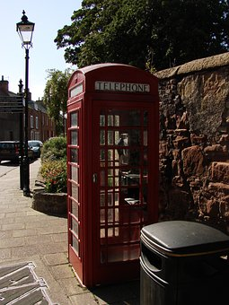 Phone Booth, London, England, Red Telephone Box