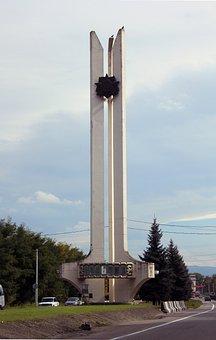Russia, Nalchik, Monument, Caucasus, Soviet Style