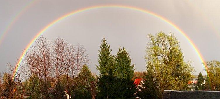 Rainbow, Full Rainbow, Nature, Natural Spectacle, Sky