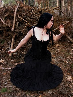 Stock, Model, Female, Woman, Young, Gothic, Lady, Girl