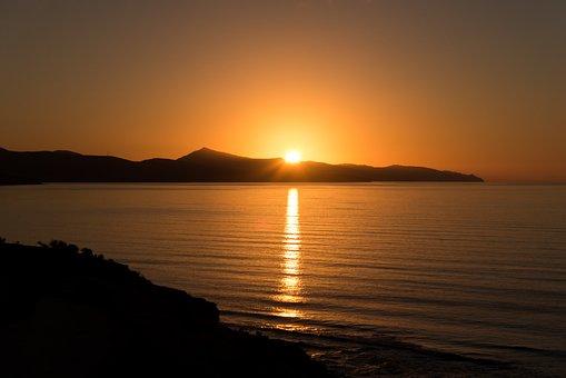 Sunrise, Sea, Fuerteventura, Sunrise On The Sea