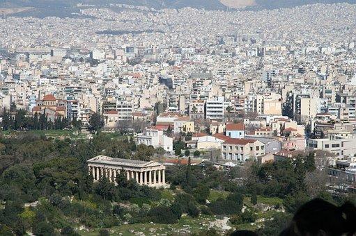 Athens, Greece, City, Temple, Architecture, Ancient