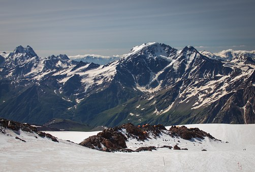 Babis, Glacier, Mountains, Elbrus, The Caucasus