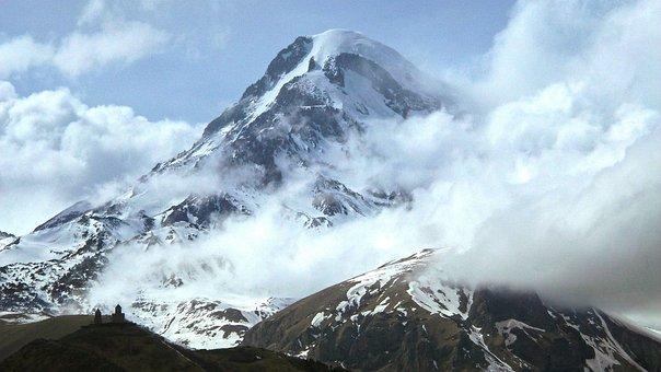 Kazbek, The Caucasus, Mountains, The Clouds, Georgia