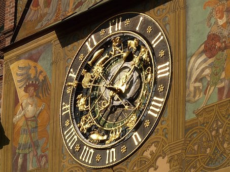 Astronomical Clock, Clock, Time, Time Of, Date, Day