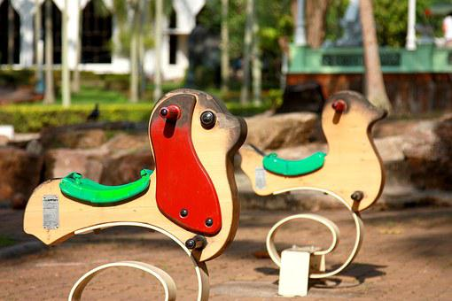 Children's Playground, Rocking Chair, Toys, Kids