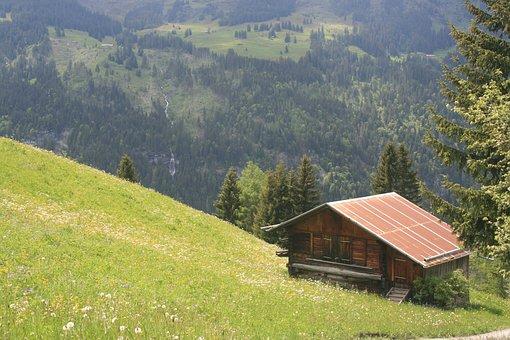 Chalet, Cabin, Cottage, Alps, Alpine, Switzerland