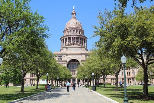 Capitol, Building, Austin, Texas, Landmark, Dome, Usa
