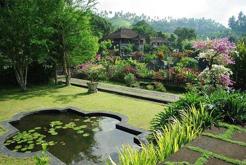 Indonesia, Bali, Pura Ganga, Temple, Basin, Water