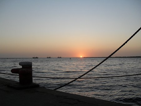 Sunset, Soft, Pink, Sky, Evening, Sea, Ocean, Bay
