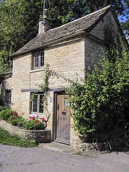 Cottage, Bibury, England, Village, English, Old, Uk