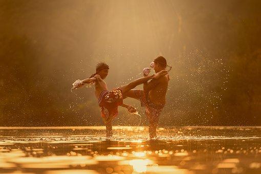 Children, River, Attack, Martial Arts, Boxing, Boys
