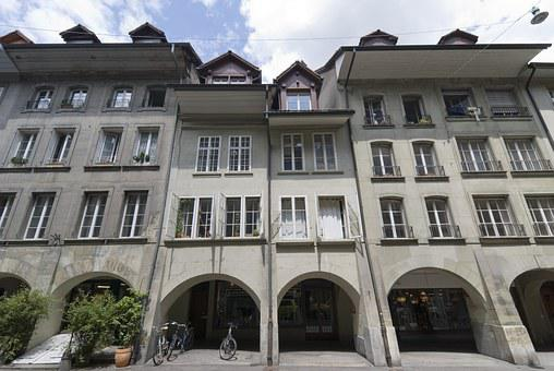 Switzerland, Building, Architecture, Wide Angle, Bern