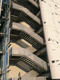 Stairs, Emergency Stairs, Evacuate, Building, Climb