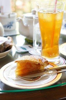 Apple Pie, Afternoon Tea, Cake, Tea, Cafe