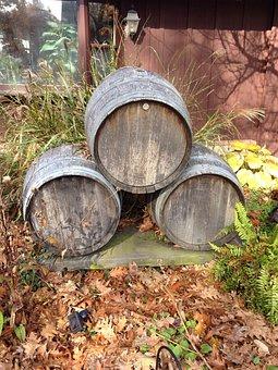 Barrels, Kegs, Wood, Alcohol, Drink, Vintage, Cask