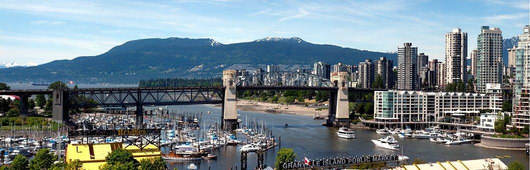 Vancouver, Bridge, Columbia British, Canada, City