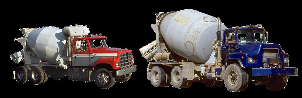 Cement Carrier, Truck, Construction, Wheels, Concrete