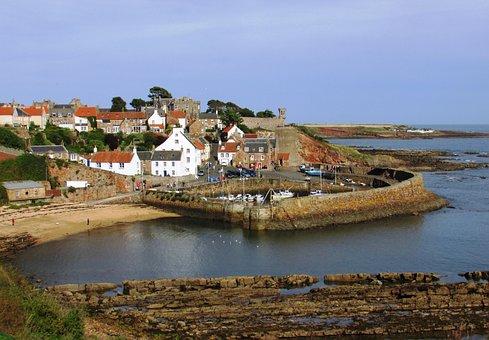 Scotland, Crail, Harbour, Harbor, Village, Fife