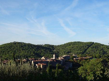 France, Provence, Mountains, Village, Forests, Quaint