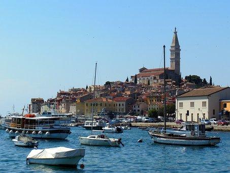 Town Of Krk, Croatia, Port City, Island, Water, Sea