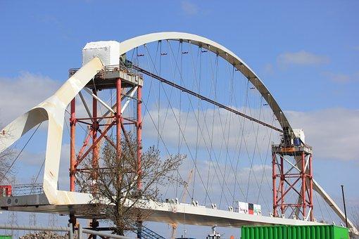 Nijmegen, Netherlands, Bridge, River, Waal, Lift, New