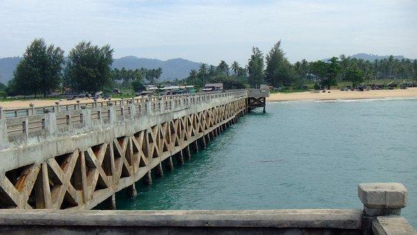 Bridge, Andaman, Thailand, Crossing, Path, Outdoor, Way