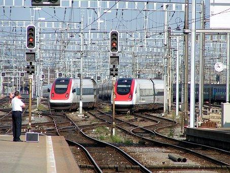 Train, Railway, Zurich, Central Station, Intercity