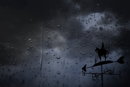 Wet, Glass, Rain Drops, Thunderstorm, Dark Clouds