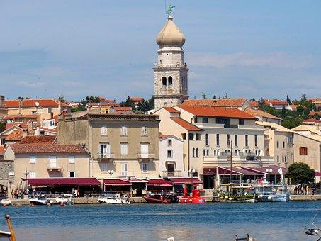 Croatia, Krk, Island, Island Of Krk, Port, Restaurants