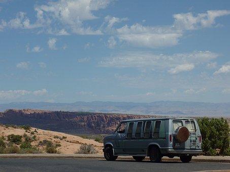 Usa, Road Trip, Ford Van, Econoline, National Park
