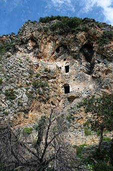 Old, Ruins, Stone, Houses, Caves, Turkey, Building