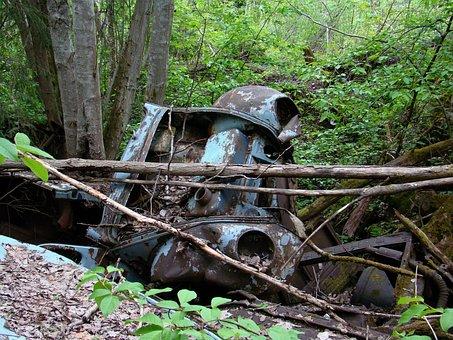 Car, Automotive Shredder Residue, Nature, Rust, Scrap