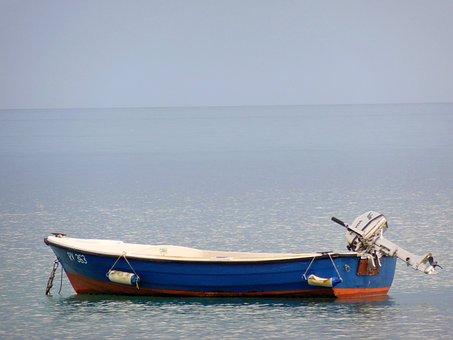 Boot, Powerboat, Rest, Mood, Island, Abendstimmung, Sea