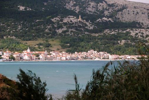 Croatia, Island Of Krk, Baska, Mountains, Sea, Water