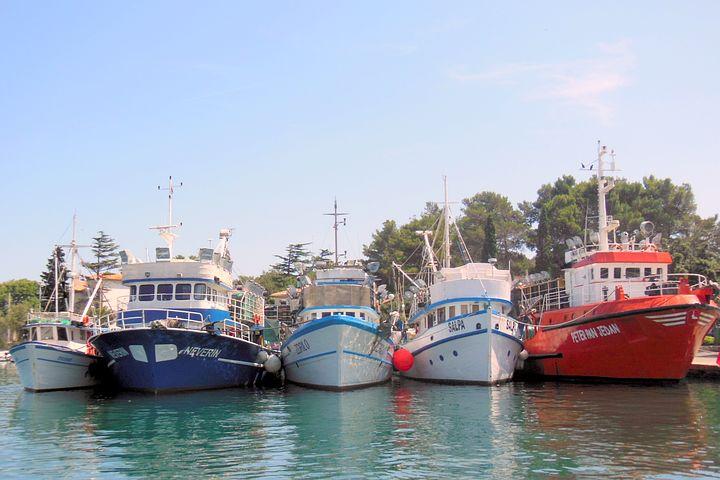 Krk, Port, Croatia, Island Of Krk, Ships, Sea, Water