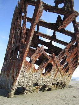 Ship, Sunken, Old, Wreck, Sea, Ocean, Vessel, Boat