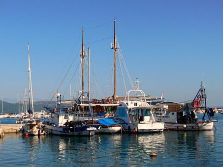 Ships, Sailing Boats, Island Of Krk, Croatia