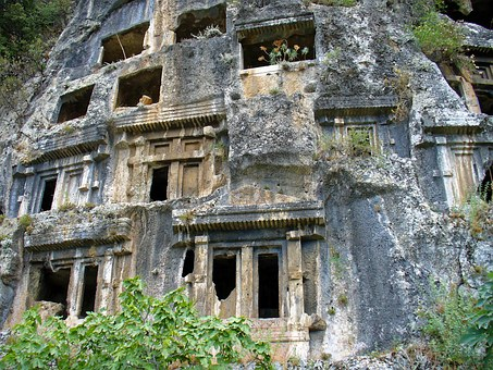 Old, Ruins, Stone, Turkey, Caves, Carving
