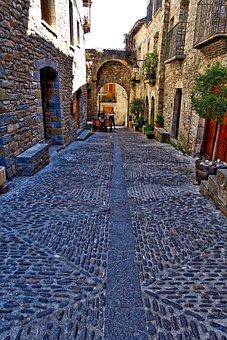 Cobbled, Stones, Paving, Cobblestone, Street, Texture