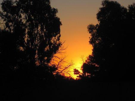 Sunset, Sundown, Bright, Glow, Gold And Orange, Yellow