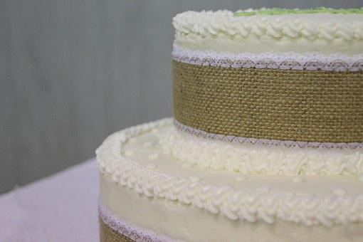 Cake, Wedding Cake, Burlap, Wedding, Food, Sweet
