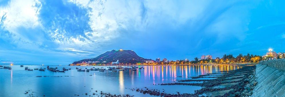 Vung Tau, Panorama, Scenery, The Sea, Mountain, Clouds