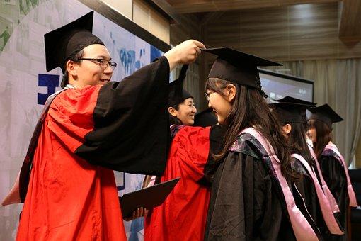 University Student, China, Portrait, Graduation
