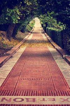 Pathway, Brick Street, Walkway, Footpath, Paved, Paving