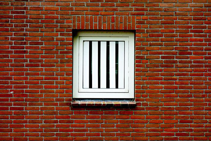 Window, House, House Window, Wall, Red Brick
