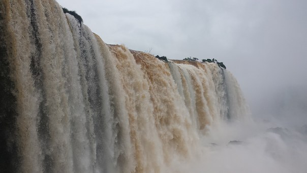 Waterfall, Cataracts, Water, Mouth Of The Iguassu