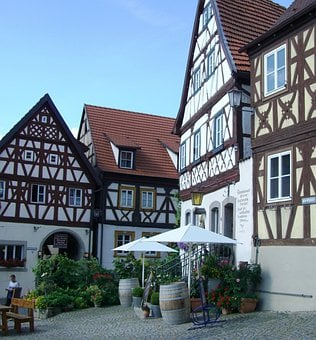 Truss, Row Of Houses, Fachwerkhaus, Zeil Am Main