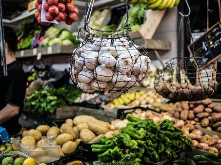 Garlic, Market, Vegetables, Barcelona, Ajos, Mercado