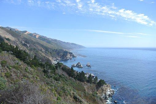 Transpacific, Pacific, Big Sur, Cliffs, Route 1
